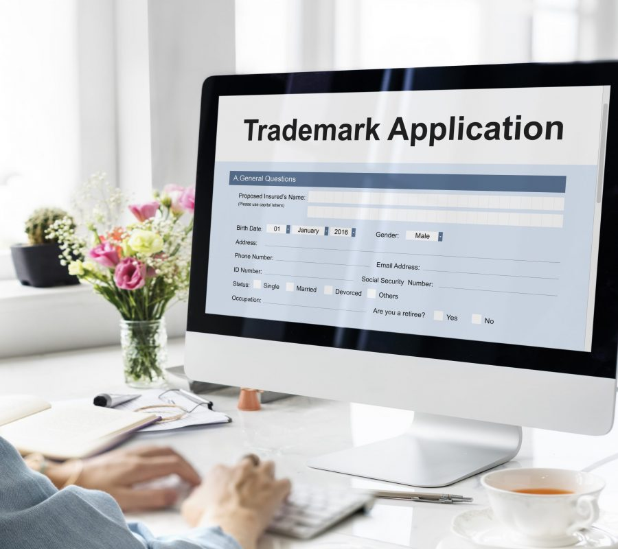 Trademark Application Document Form Concept